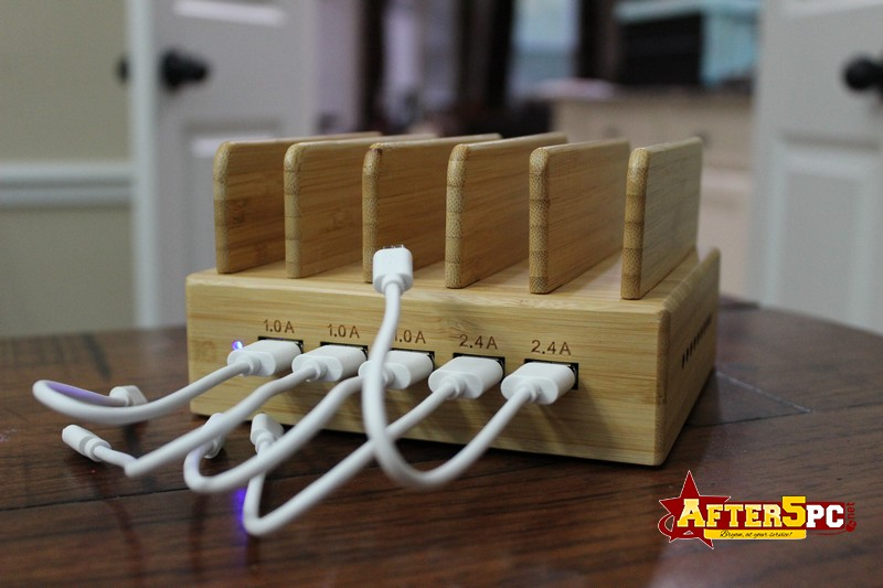 InkoTimes 5-Port USB Bamboo Charging Station Review
